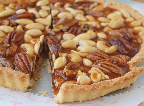caramel nut tart with brandy cream | Gluttony | Pinterest