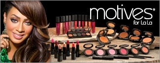 Motives® for La La    Motives® for La La includes mineral base lipsticks, blushes, lip shines and more.    This line contains eight product types – lipsticks, lip shines, eyeshadows, blushes, foundations, mascara and liners – not only showcase La La's distinct style, but complement the full line of Motives Cosmetics. Motives for La La is a perfect blend of runway and everyday styles with products uniquely-formulated for every shade of today's modern woman.