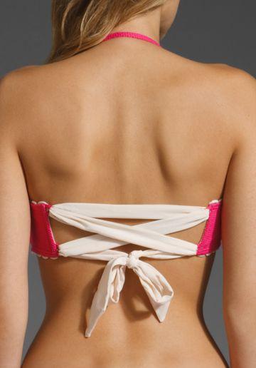 handbags purses Juicy Couture Tea Rose Tie Back Bandeau in Dragonfruit