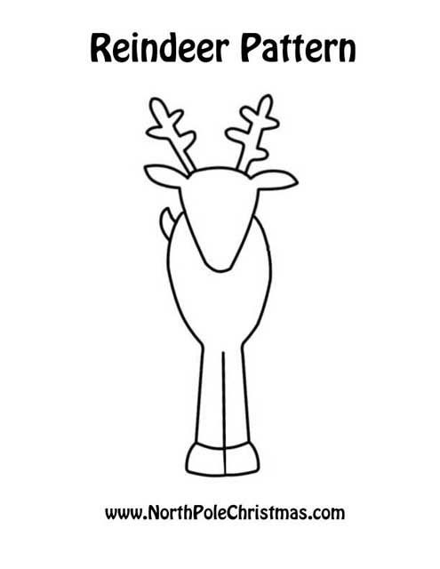 Sassy image with regard to printable reindeer pattern