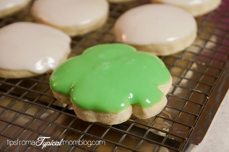 Bakery Style Thick Sugar Cookies with Lemon Glaze ...