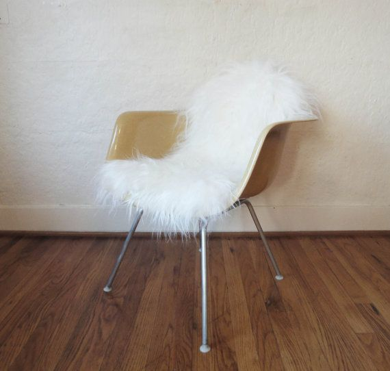 Icelandic sheepskin chair cover for eames shell chairs