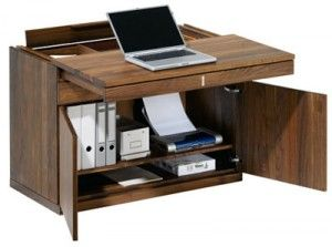 Wood small laptop desk for small space living pinterest - Small wooden computer desks for small spaces concept ...
