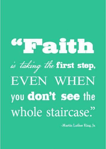 Faith....