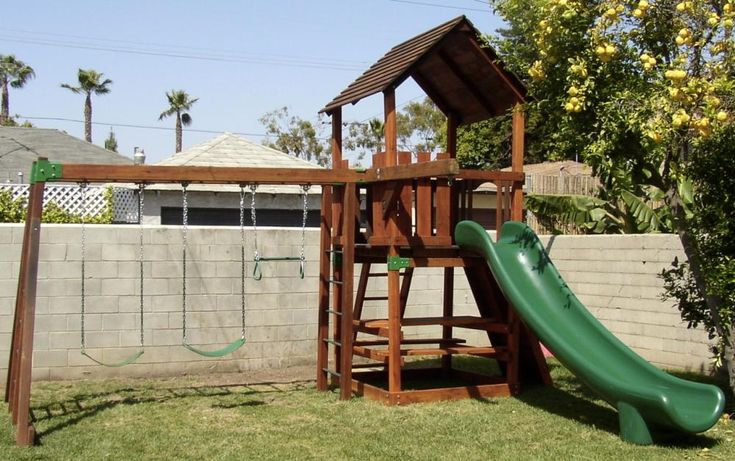 Pin by jenni bishop on outdoor playsets pinterest for Backyard playset plans