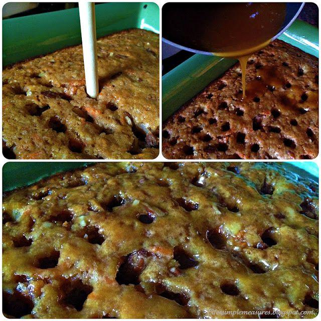 Gooey Cinnamon Carrot Cake | Dreamed Desserts | Pinterest