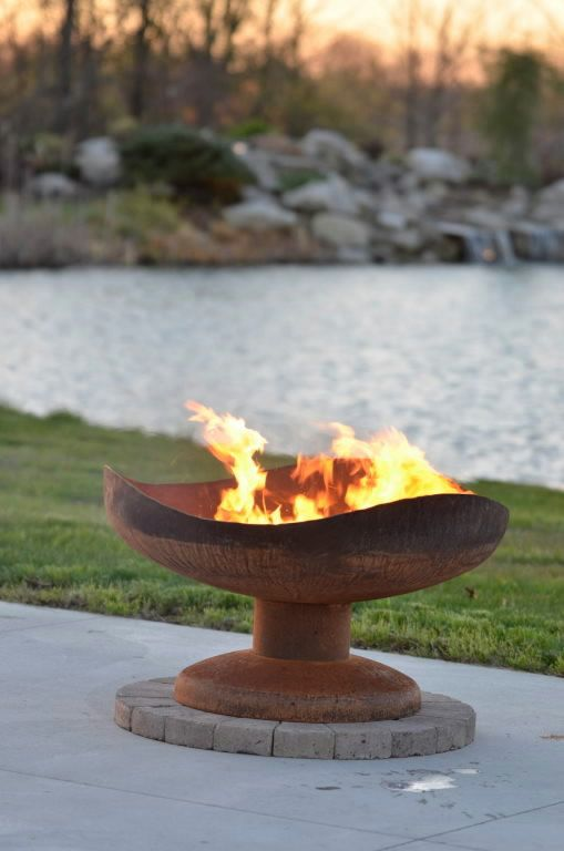 Sand Fire Pit Backyard : Sand Dune Outdoor Fire Pit  Functional Art for your Backyard or Outd