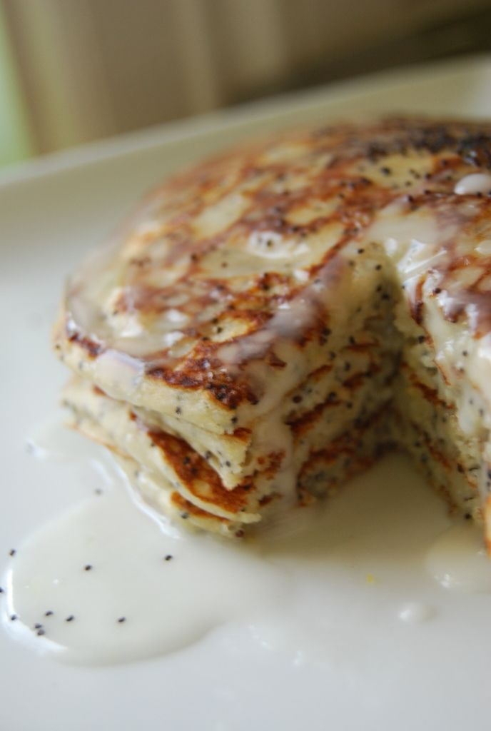 Lemon Poppy-Seed Buttermilk Pancakes | food and drink | Pinterest
