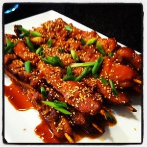Asian Chicken Skewers   MyRecipes.com