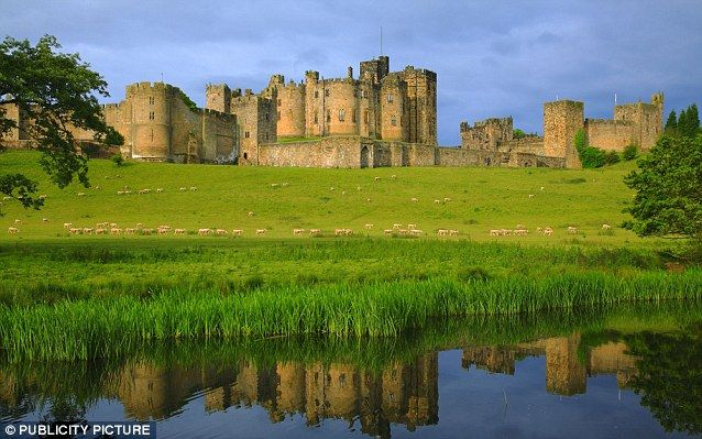 Alnwick Castle in Northumberland, the Duke of Northumberland's family home.