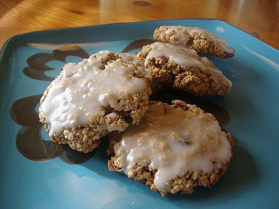 iced oatmeal cookies!