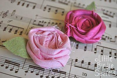 Little Birdie Secrets: how to make a fabric rosette clip