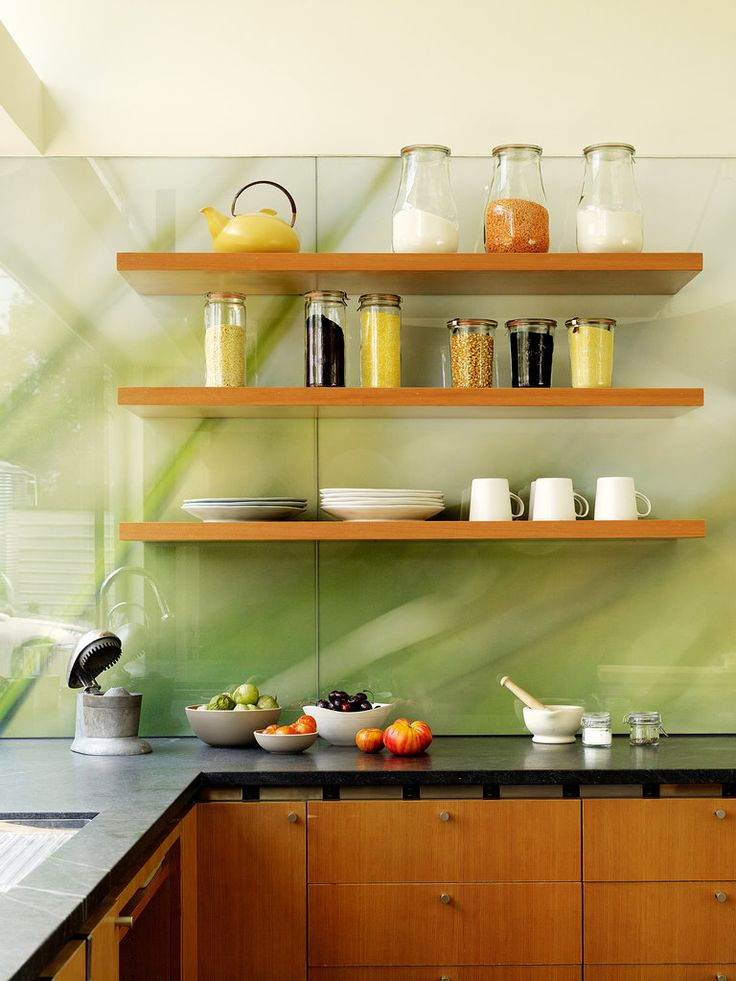Beautiful photo covered with glass for backsplash