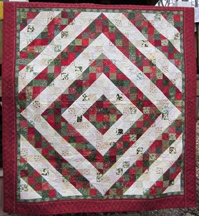Split Nine Patch Quilt Christmas Quilts Pinterest
