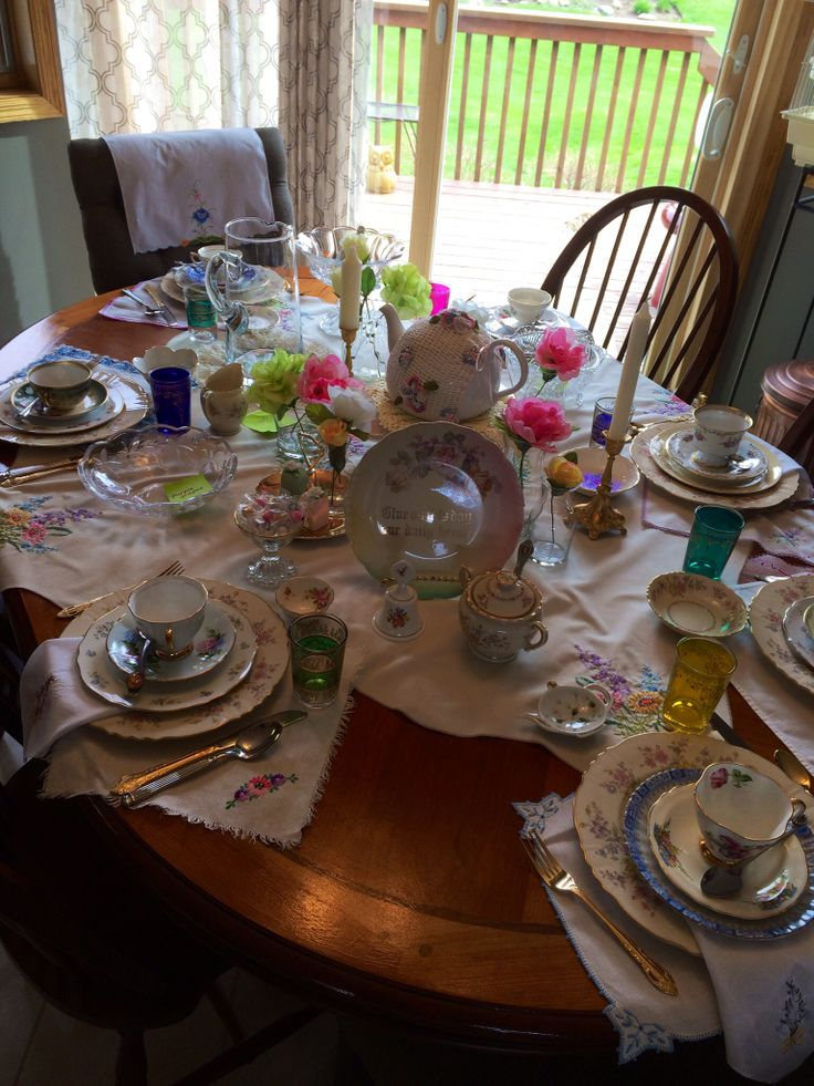 tea table settings tables - photo #19