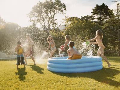 how to create a backyard water park