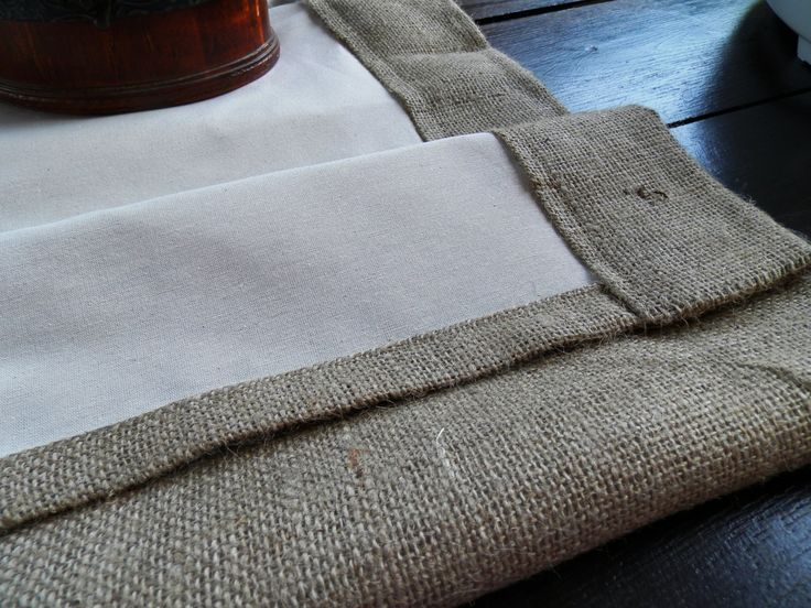 Burlap Curtains with lined set of two panels by MadeInBurlap, $110.00