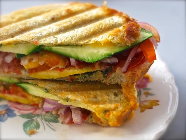Veggie Jack Panini Melt Sandwich with Fresh Basil Pesto - Thx ...