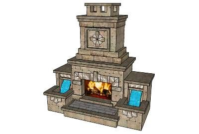 simple patio designs with hearth pit