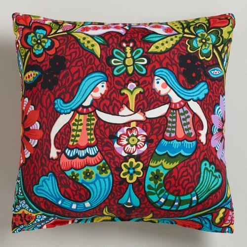 Throw Pillows Farmhouse : Mermaid Outdoor Throw Pillow Trendy Home Goods Pinterest