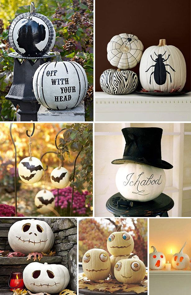 Here's some cute ideas using white pumpkins. Posted on blog.thecelebrationshoppe.com