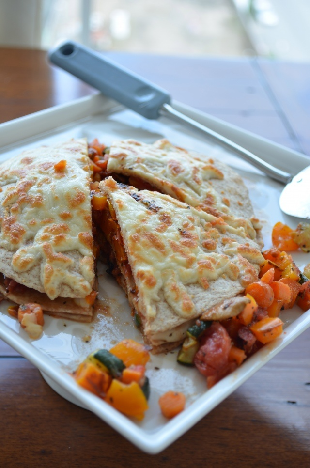 Roasted Vegetable Quesadilla Casserole - with vegan and gluten-free ...