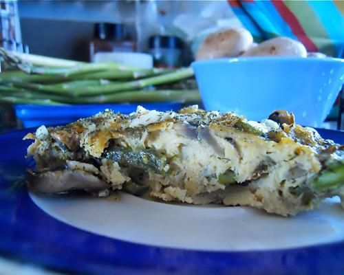 Mushroom Asparagus Frittata | Recipe