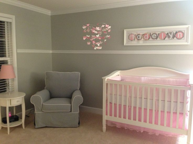 Pink And Gray Nursery Girly Girl Pinterest