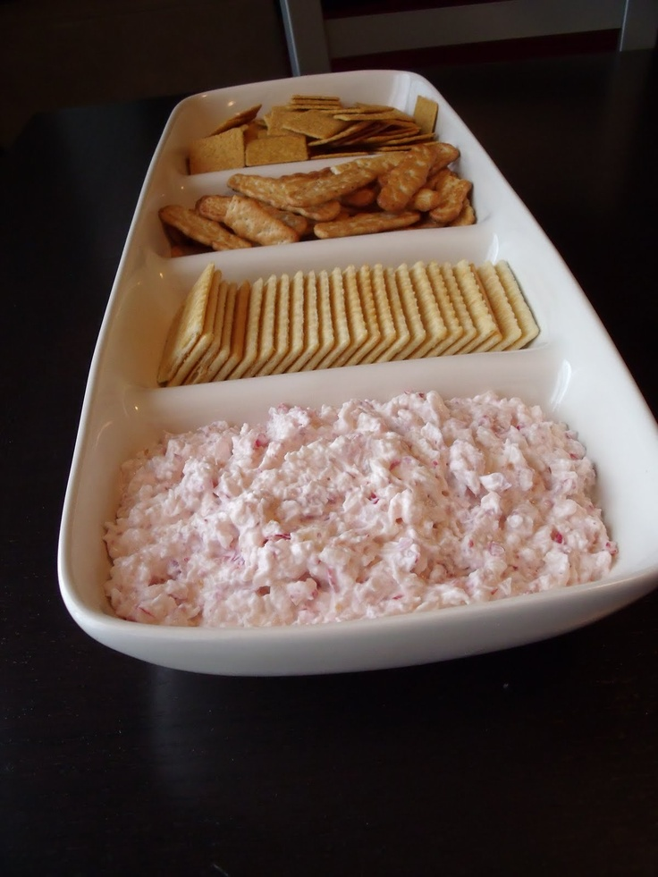 Radish Dip - eat with whole wheat butter crackers