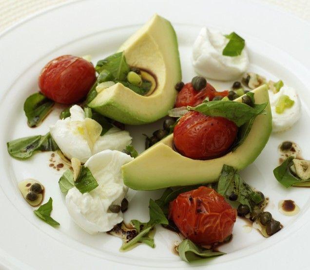 Avocado, Tomato and Mozzarella Salad