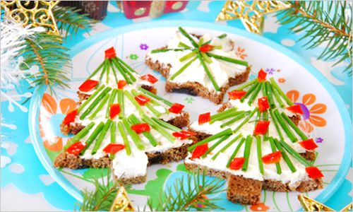 christmas tree sandwich | A Meal Between Slices | Pinterest
