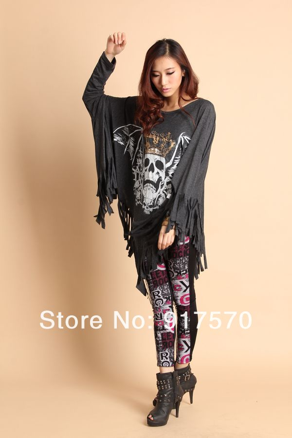 Skull Clothing for Women 2014 | Fashion 2014 Punk Skull Women Rock