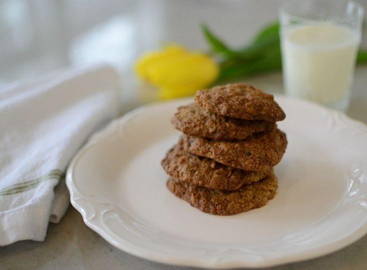 GF toasted oatmeal raisin cookies