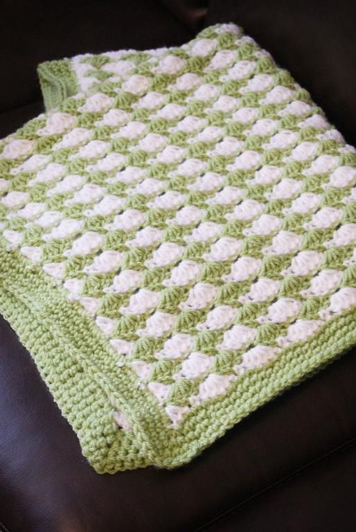 Shell Stitch Blanket Crochet Pattern Crochet Pinterest
