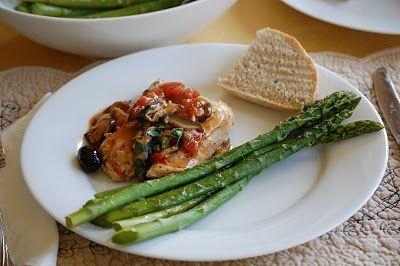 La Petite Maison Verte: Chicken with Tomatoes and Mushrooms