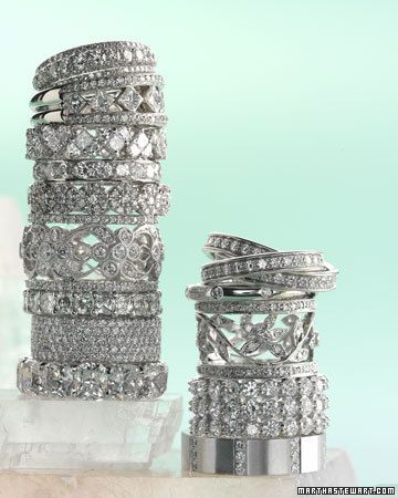 Thick vintage diamond bands.  LOVE!
