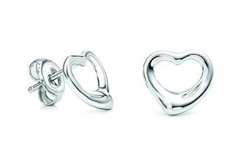 $4.99 - Silver-Plated Heart Earrings