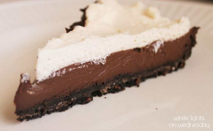 Dark Chocolate Black-Bottom Pie | Recipe