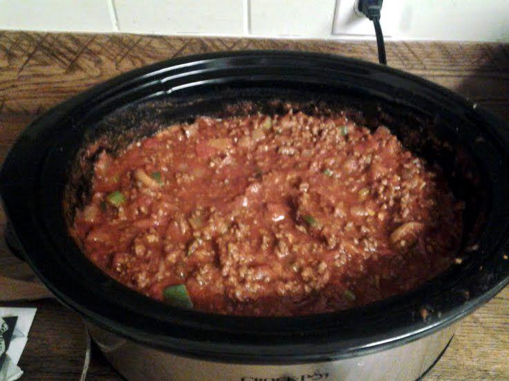 Crock Pot Meaty Pasta Sauce Recipe — Dishmaps