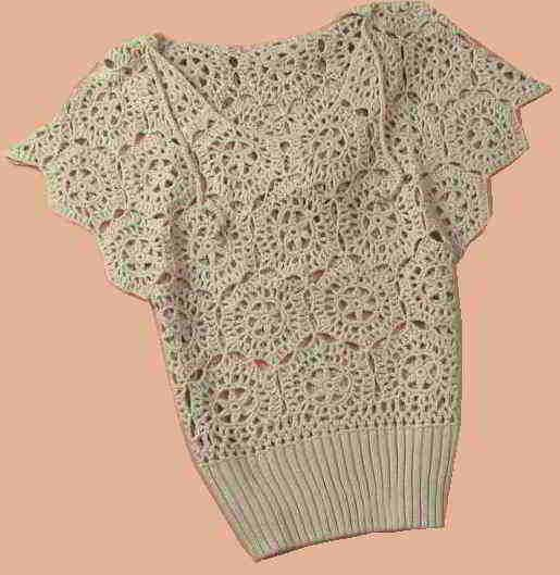crochet patterns for womens clothes crocheted with flowers pattern ...