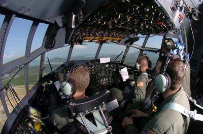 c 130 cockpit  130 Hercules transport cockpit