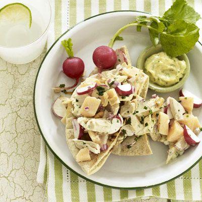 Curried Chicken Pitas | Recipe