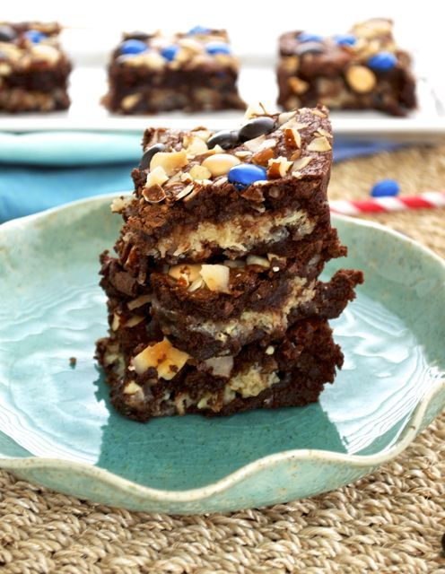 Almond Joy Brownies are gooey, cocoa brownies with a luscious coconut ...