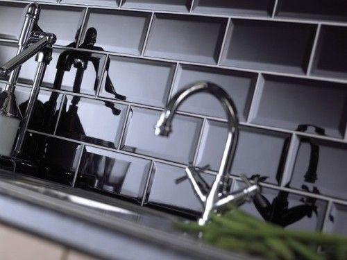 black subway tile kitchen backsplash homestyle pinterest