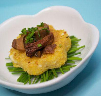 Mini Polenta Cakes (with Feta & Wild Mushroom Ragú) | Recipe