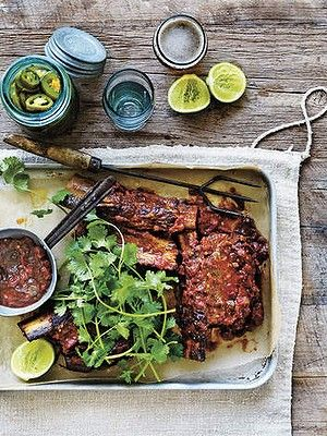 Mexican-style braised beef short ribs | FOOD!!!! | Pinterest