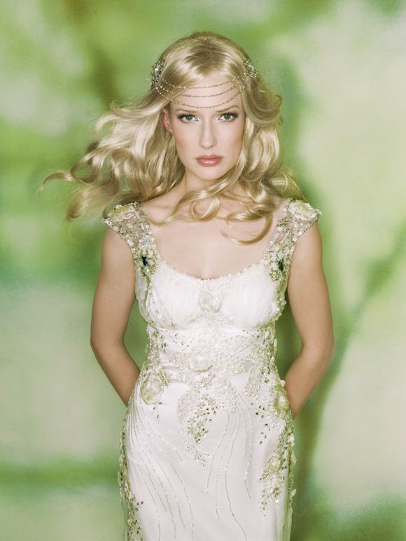 With claire pettibone ~ romantic whimsical ethereal wedding dress