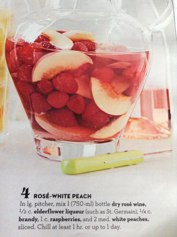 Rose White Peach Sangria | drink up | Pinterest