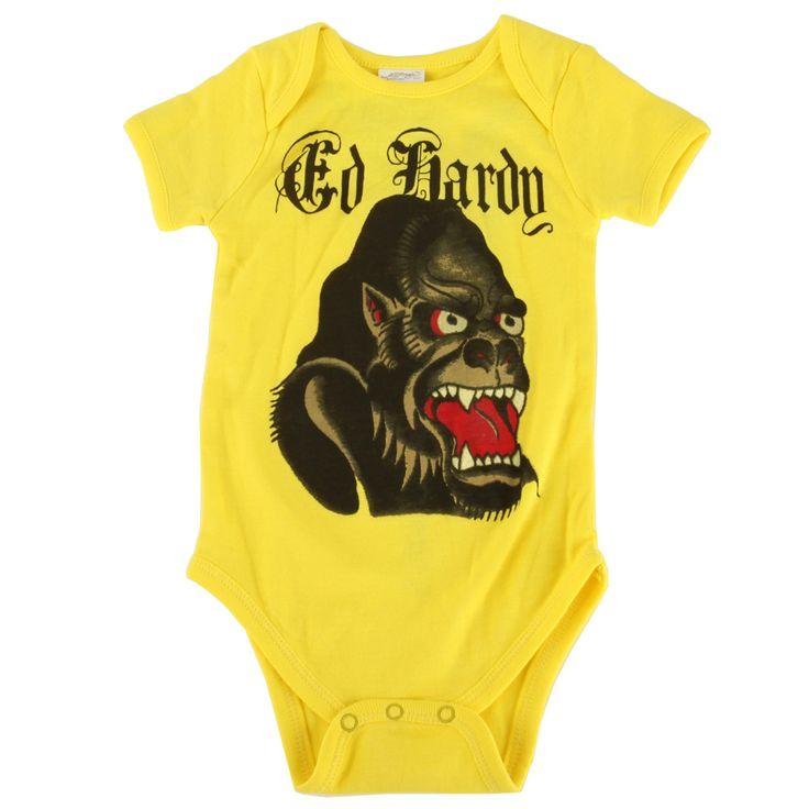 Ed Hardy Baby Gorilla Onesie