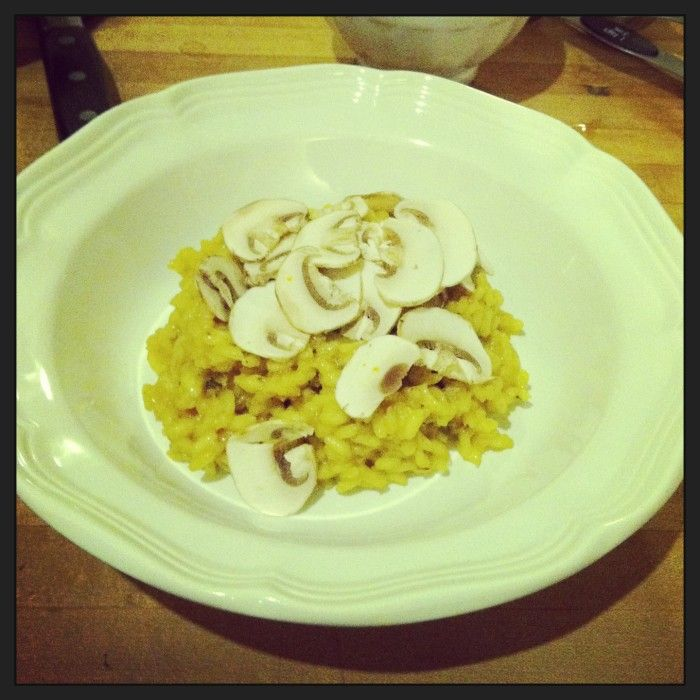 Saffron Risotto with Mushrooms // Serious Crust by Annie Fassler